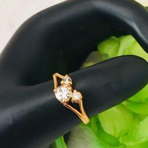 Disney Gold & Rhinestones Mickey Mouse Ring